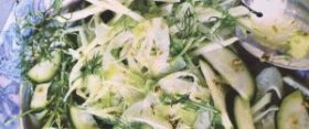 Courgette, Fennel & Kohlrabi Salad