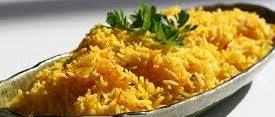 Vegetable Rice with Saffron